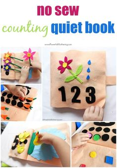 Make a No Sew Counting and Numbers Quiet Book for your toddler, preschooler or special needs child. Quiet books are great for hands on learning!
