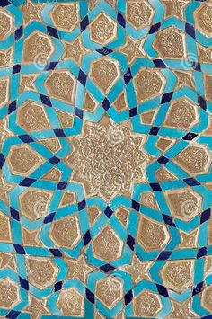 Persian tile work, Yazd, Iran