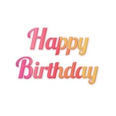 Fashion happy birthday fonts, Happy Birthday, Orange, Pink PNG and PSD