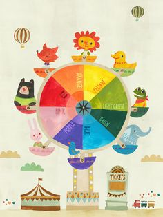 'Color Ferris Wheel' by Irene Chan Graphic Art on Canvas