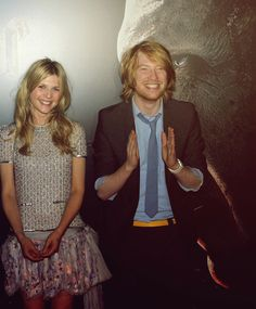 .Clemence Poesy and Domhnall Gleeson
