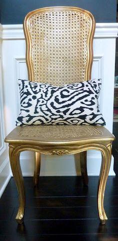 a gold chair...
