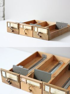 library index card drawer
