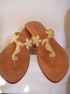 675f2cea0a20 SEAHORSE AND STARFISH SANDALS AWESOME  ) Starfish Sandals