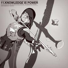 'Knowledge is Power' by Alexander Chesnok Destiny Cayde 6, Destiny Fallen, Destiny Video Game, Destiny Comic, Destiny Hunter, Destiny Bungie, Video Game Art, Character Art, Character Design
