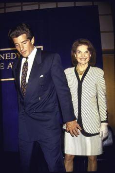 John F. Kennedy Jr and Jackie Kennedy