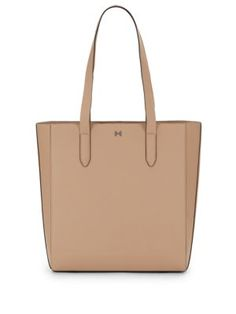 HALSTON HERITAGE Leather Tote/Ash. #halstonheritage #bags #leather #hand bags #tote #lining #