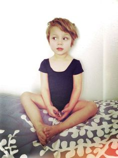 Lovely little ballerina in a pixie cut hair style. She's a darling little pixie. The true Tinkerbell