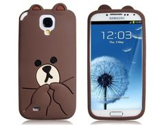 Fall in love with this Silicone Cartoon Bear Protective Case Skin Cover for Samsung Galaxy SIV It is made from high quality material for durability and to provide protection from possible harm against scratches and dirt. Galaxy 3, Galaxy S4 Case, Samsung Galaxy S3, Cute Cases, Cute Phone Cases, Bear Cartoon, Iphone, Protective Cases, Phone Accessories