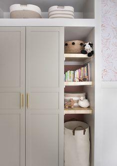 makeover Mid Century Nursery Makeover - Room for Tuesday Bedroom Built In Wardrobe, Ikea Pax Wardrobe, Diy Wardrobe, Closet Bedroom, Wardrobe Makeover, Wardrobes For Bedrooms, Build In Wardrobe, Baby Wardrobe Ideas, Diy Built In Wardrobes