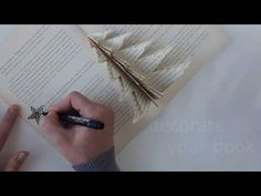 Christmas tree in a old book - home decor - YouTube
