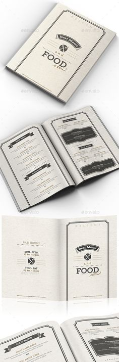 Creative Tri-Fold Food Menu 16 Creative, Food menu and Photoshop - cafe menu templates free download