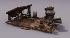 The Art of Eric Braddock World of Warcraft: Warlords of Draenor, Garrison Blacksmith props