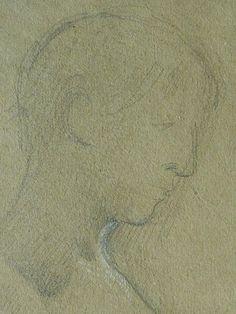 """MERSON Luc Olivier - Cléopâtre, Femme nue, debout (drawing, dessin, disegno-Louvre RF35866) - Detail 07 -TAGS/ disegni details détail détails detalles """"dessins 19e"""" """"19th-century drawings"""" """"french drawings"""" """"dessins français"""" croquis étude Study studies sketch sketches Paris France Museum tête head heads people pose model portrait portraits face faces visage """"jeune femme"""" """"young woman"""" """"naked woman"""" bare sensuelle sensual fille girl girls """"jeune fille"""" sultry sensual erotism érotisme… Paris France, Photo And Video, Portrait, Dibujo, Gentleness, Headshot Photography, Men Portrait, Paris, Drawings"""