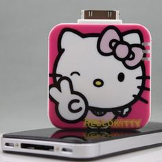 Hello Kitty Iphone Ipod Portable Charger Pink