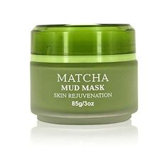 PREMIUM Matcha Green Tea Face Mask - Natural Mud Mask to Rejuvenate Skin with Anti Ageing Effects - Skin Cleanser for Acne - Face Cream to Reduce Pores, Fine Lines and Wrinkles Acne Face, Matcha Green Tea, Ageing, Cleanser, Mud, Anti Aging, Goodies, Cream, Natural