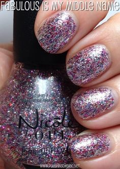 Nicole by OPI Fabulous Is My Middle Name Opi Nails, Nail Manicure, Nail Polishes, Sparkle Nails, Glitter Nails, Nail Polish Blog, Nicole By Opi, Daily Nail, Nail Polish Collection
