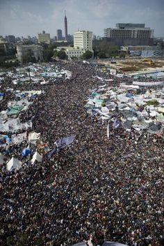 Millions of protestors at Tahrir Square 2011 #Egyptian Revolution