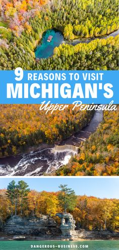 Here's why Michigan's Upper Peninsula should be on your travel bucket list! Things to do in Michigan in the Upper Peninsula. This is by far one of my favorite travel fall destinations in the US. This trip is epic and filled with hiking, tourist attractions and great lakes. Find out all the reasons why you cant miss this US destination! #Michigan #USATravel #FallInspiration