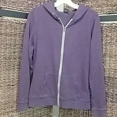 Zine Purple Zip Up Hoodie In great condition! Only thing is the string for the hood is missing. Brand Zine Zine Tops Sweatshirts & Hoodies