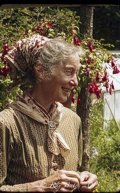 Tasha Tudor Portrait for Boston Globe.