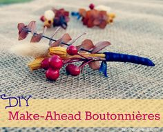 Save time and wedding money with Make-Ahead Boutonnieres! Boutonnieres, Frugal, Diy Wedding, Mad, Tutorials, Strong, Money, Bride, Party