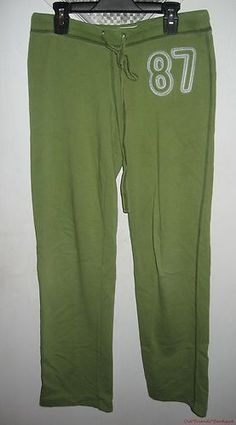Aeropostale Junior Womens Army Green Sweat Lounge Pants S