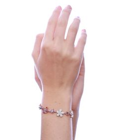 Love Me Daisy Bracelet by Jenna Clifford. Mastercrafted in a mix of white, rose and yellow gold set with diamonds, pink sapphires and morganites. Black Diamond Bracelet, Daisy Bracelet, Jenna Clifford, Pink Sapphire, Delicate, Valentines, Jewels, Jewellery, My Love