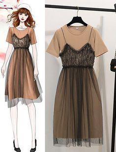 Fashion Mode, 80s Fashion, Korean Fashion, Girl Fashion, Fashion Drawing Dresses, Fashion Illustration Dresses, Fashion Dresses, Cute Casual Outfits, Pretty Outfits