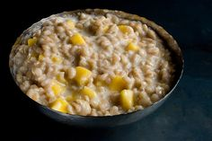 This would be a great breakfast on a chilly morning. Coconut Farro Porridge with Mango from CHOW