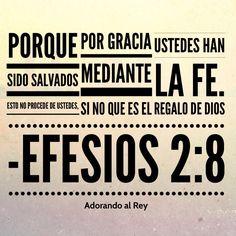 Ustedes han sido salvados porque aceptaron el amor de Dios. Ninguno de ustedes se ganó la salvación, sino que Dios se la regaló. (Efesios 2:8)  #Dios #Jesus #Jesucristo #Cristo #Salvacion #Fe #Biblia #Versiculo #PalabradeDios #RegalodeDios #Avivamiento #AdorandoalRey