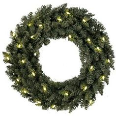 45.5cm Lighted Fir Calgary Wreath