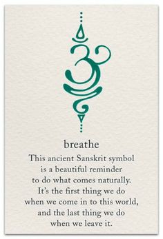 Breathe This Ancient Sanskrit Symbol Is a Beautiful Reminder to Do What Comes Na… Tattoo quates – Top Fashion Tattoos Body Art Tattoos, New Tattoos, Small Tattoos, Cool Tattoos, Tatoos, Awesome Tattoos, Tattoo Drawings, Thumb Tattoos, Modern Tattoos