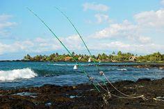 Shore fishing on the Big Island of Hawaii