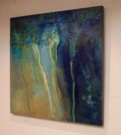 "CAROL NELSON FINE ART BLOG: ""BREAKWATER"" textured marine abstract © Carol Nelson Fine Art"