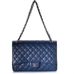 Chanel Maxi Classic 2.55 Quilted Flap Handbag | Chanel Handbags from Bag Borrow or Steal™