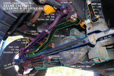 jeep zj  front suspension  steering diagram
