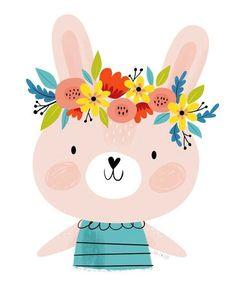 Un petit lapin disponible dans ma boutique Etsy!!! Cute bunny on my Etsy shop! #illustration #childrenillustration #bunny #nurserydecor #digitalart