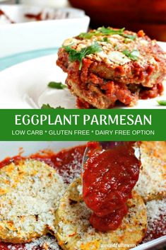 Whether you are gluten free of not, this Baked Eggplant Parmesan is the best recipe for Eggplant Parmesan EVER! This eggplant recipe is an incredibly rich, luxurious, and comforting classic. Cheap Clean Eating, Clean Eating Snacks, Gluten Free Eggplant Parmesan, Paleo Eggplant Recipes, Healthy Baking, Healthy Recipes, Gluten Free Recipes Cheap, Gluten Free Vegetarian Recipes, Vegan Keto