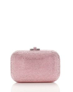 Crystal Slide-Lock Clutch Bag, Light Rose by Judith Leiber Couture at Neiman Marcus.