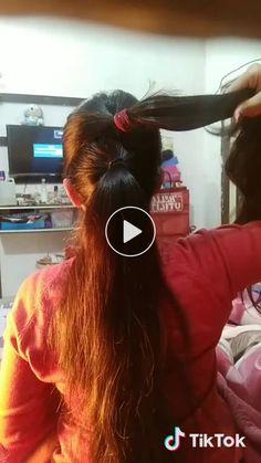 easy hair style for college/ office. - GO Like a hair College Hairstyles, Office Hairstyles, Ponytail Hairstyles Tutorial, Bun Hairstyles For Long Hair, Everyday Hairstyles, Medium Hair Styles, Long Hair Styles, Hair Affair, Hair Videos