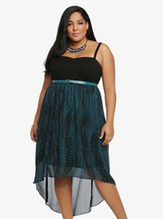 Belted Sweetheart Tank Dress. Curvy OutfitsFashion OutfitsPlus Size ... 48d18f9ec