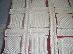 Plaid irlandais 8ème carré  Fils en folie de Lilou  tricot, crochet ..