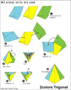 Origami 2colors Trigonal instructions