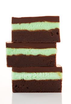 Mint Brownies - These taste just like Andes Mints in brownie form. They're amazing!!
