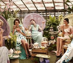 Ladies Tea - WAY over the top but I like some of the ideas