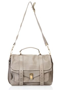 Proenza Schouler PS1 Large Shoulder Bag In Smoke