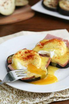 Healthier Low Carb Eggs Benedict with Eggplant!