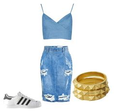 """Untitled #47"" by harooj-1 on Polyvore featuring Luv Aj, One Teaspoon and adidas"