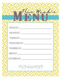 weekly meals on a budget | Meal Planning on a Budget